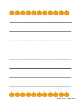 Pumpkin Writing Prompts