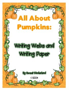 Pumpkin Writing Webs and Paper