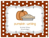 Pumpkin Writing (includes circle and tree maps)