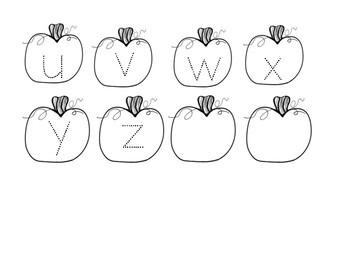 Pumpkin a-z Tracing