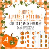 Pumpkin alphabet matching uppercase and lowercase with visual guides
