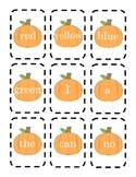 Pumpkin and Acorn Sight Word Matching Game