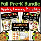 Fall Preschool Activities Bundle: Apples, Leaves, Pumpkins