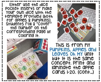 Apple and Pumpkin Math {Math Centers and Games}