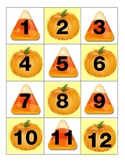 Pumpkin and Candy Corn Calendar Pieces AB Pattern