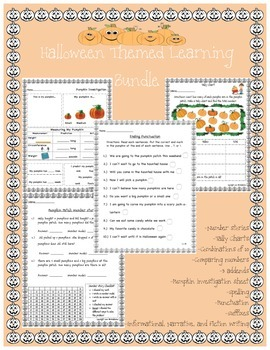 Pumpkin and Halloween Themed Learning Bundle
