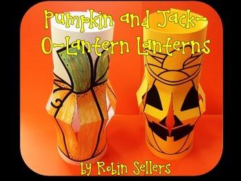 Pumpkin and Jack-O-Lantern Lanterns {A Fall or Halloween Craft}