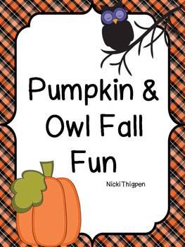 Pumpkin and Owl Fun