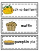 Pumpkin and Pumpkin Life Cycle Word Cards and Word List