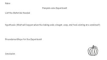 Pumpkin-cano Science Experiment