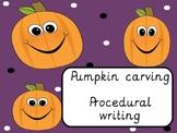 Pumpkin carving procedural writing