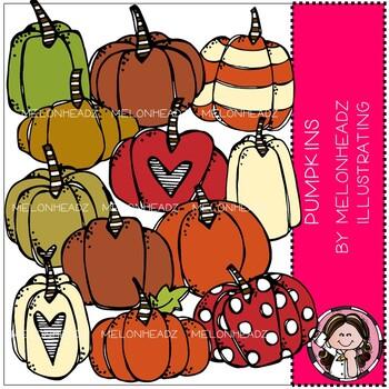 Pumpkin clip art - COMBO PACK - Melonheadz Clipart