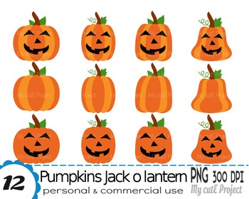 pumpkin clipart jack o lantern clipart halloween scrapbooking rh teacherspayteachers com free halloween jack o lantern clipart pumpkin jack o lantern clipart