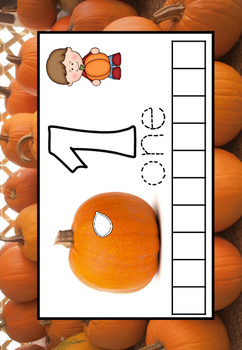 Pumpkin counting mats and number cards