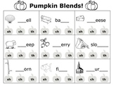 FREE Pumpkin digraphs: practicing th, sh, and ch digraphs