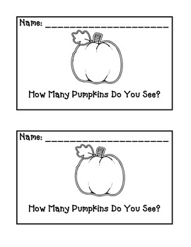 Pumpkin emergent reader I See
