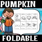Pumpkin foldable. (FLASH FREEBIE)