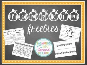 Pumpkin freebie no-prep printables