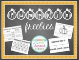 Pumpkin freebie no-prep printables