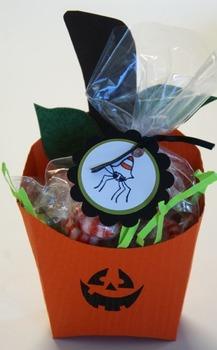 Pumpkin fry box for Halloween goodies! (Set of 12)
