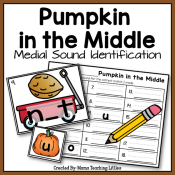 Pumpkin in the Middle - Medial Sound Identification