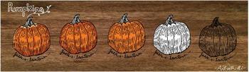Pumpkin jack-o-lantern graphic for Fall harvest