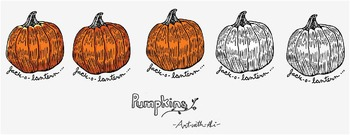 Pumpkin jack-o-lantern graphic for Fall harvest