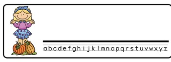 Pumpkin kids Theme Desk Nameplates (Set of Four)
