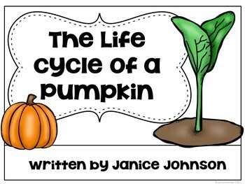 Pumpkin life cycle Reader & Sentence forming pages