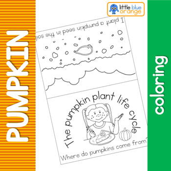 Pumpkin life cycle coloring booklet