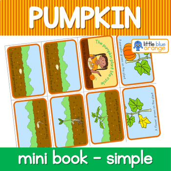 Pumpkin life cycle mini book (simplified version)