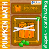 Pumpkin math center shapes - constructing shapes
