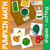 Pumpkin math center shapes - pumpkin cutting