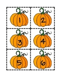 Pumpkin number cards 1-100