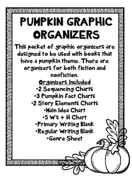 Pumpkin or Fall Graphics Organizer Pack