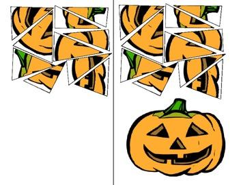 Pumpkin or Jack O Lantern cutting exercise