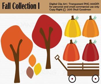 Pumpkin patch clip art - fall harvest clipart