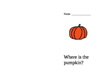 Pumpkin prepositions activity wookbook