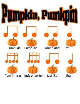 Pumpkin pumpkin reading song sixteenth notes