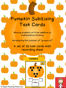 Pumpkin subitising task cards - moving from additive to mu