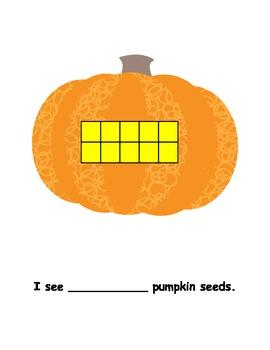 Pumpkin ten frame number story