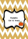 Pumpkin tracing and cutting practice worksheets(fine motor development)