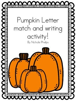 Pumpkin letter match activity