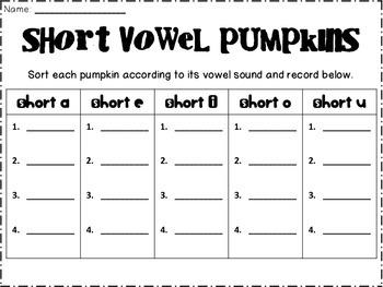 Pumpkin-y Literacy Centers