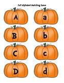 Pumpkin/Fall Alphabet Matching Game or Center