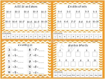Pumpkin/Fall Themed Math Strategy Worksheets  1.OA.C6