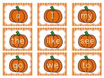 Pumpkin/Halloween Sight Word Game