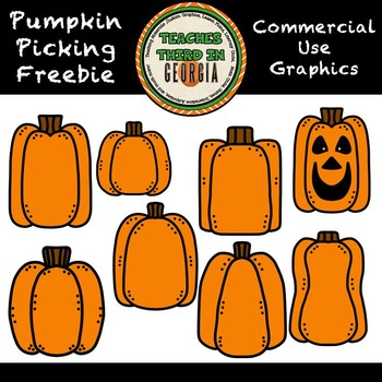 Pumpking Pickin! Clipart Freebie!Pumpkin