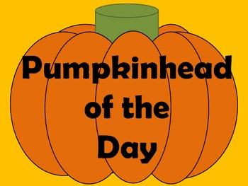 Pumpkinhead of the Day Freebie