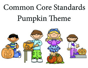 Pumpkinkids 1st grade English Common core standards posters